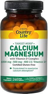 Country Life, Calcium Magnesium, w/Vitamin D ... - Amazon.com