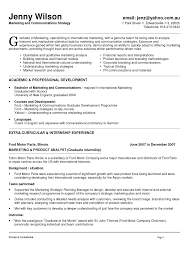 Marketing Resume Layout