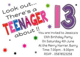 13th Party Invitations Personalised Look Out Theres A Teenager About 13th Birthday Party Invitations