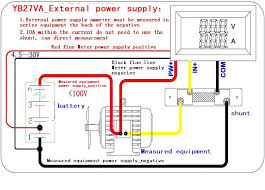 12 volt shunt wiring 12 image wiring diagram 4 5 30v 0 50a dual led digital volt meter 50a 75mv dc ac current on