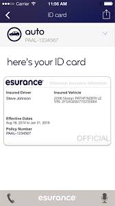 auto insurance card with esurance insurance phone number 44billionlater and insurance card