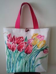 inspiration for a hand painted denim tote