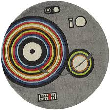 5 round gray turntable round area rug hipster