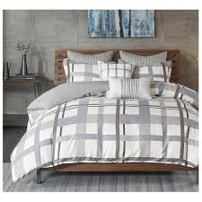 33 incredible design ideas grey plaid bedding modern horton gray cotton comforter set sky iris sets baby and orange buffalo