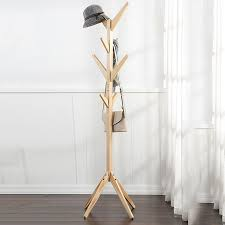 Coat And Hat Rack Stand Home Hangers Wood Coat Hat Rack Morden Bedroom Hall Stand Bag 52