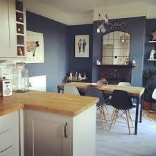 Kitchen With Blue Walls Little Greene Juniper Ash Kitchen Diner Open Plan Living Www