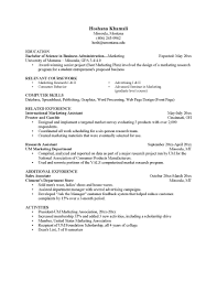 Microbiology Resume Sample Objective Education Relevant Courses