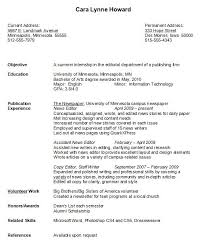 perfect college resume