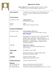 Sample Job Resume With Work Experience Format Cover Letter No