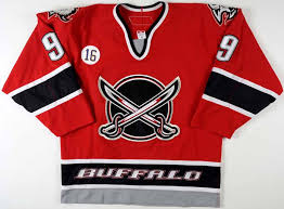 Red Sabres And Black Jersey