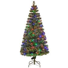 National Tree Company 6 ft. Fiber Optic Evergreen Artificial Christmas Tree  with LED Lights