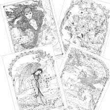 Amazon Com Myth Magic An Enchanted Fantasy Coloring Book By