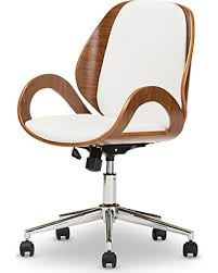 designer office chairs. Exellent Designer Baxton Studio Didier Modern U0026 Contemporary Office Chair WalnutWhite Throughout Designer Chairs
