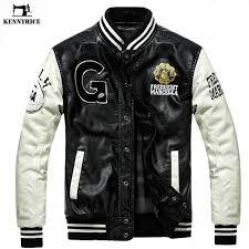 kenntrice baseball leather jacket men black white college varsity jacket jaqueta couro mens pu leather autumn winter coat uk 2019 from baica