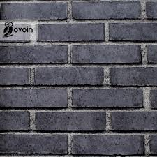Chinese Stijl Roodgrijs Baksteen Behang Reliëf Textuur Vinyl Behang