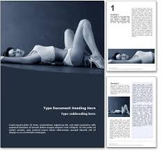 Ms Word Page Designs Royalty Free Seduction Microsoft Word Template In Blue