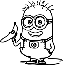 Small Picture Minion Kevin Coloring Page Throughout Minions Color Pages esonme