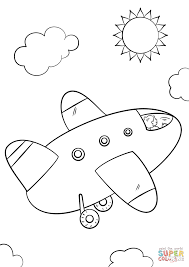 Cartoon Airplane coloring page | Free Printable Coloring Pages