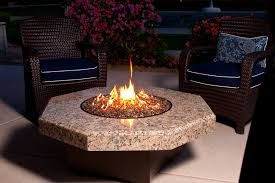 propane fire pit table with chairs. furniture. geometric brown marble granite gas fire pit tables plus wicker chair using blue upholstered seat with white border as well outdoor propane table chairs
