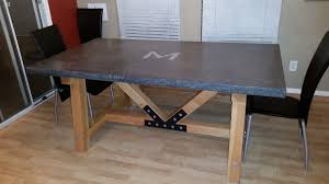 ana white 4x4 truss beam table concrete top with benches diy concrete coffee table diy pete