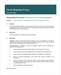 policy templates business policy template 9 free pdf documents download free