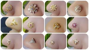 Small Gold Nose Pin Design Beautiful Gold Diamond Nose Studs Designs For Women New