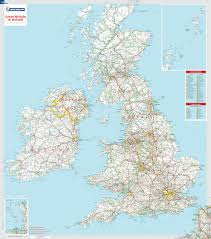 great britain  irelandlaminated wall mapmichelin maps  guides