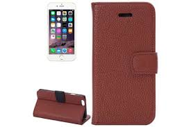 smith for iphone 6s plus 6 plus wallet case lychee leather shielding cover brown phone cases