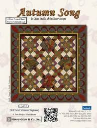 Projects, Henry Glass & Co., Inc. & Autumn Song Quilt 1 by Janet Rae Nesbitt of One Sister Designs Adamdwight.com