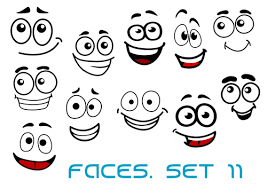 Funny Face Templates Hand Drawn Funny Face Emoticons Icons Vector Free Download