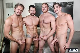 Three men double penetration gay