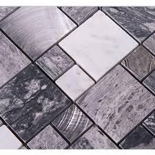 metal floor tiles. Perfect Metal Stone Mosaic Tiles Brushed Stainless Steel Backsplash Kitchen Metal Wall  Art Marble Floor Tile Metallic  Throughout