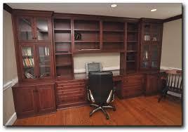 cherry custom home office desk. Home Office Custom, Cherry Built-in Cabinets Installed In Alexandria, VA Desk With Glass \u0026 Wood Doors. Custom F