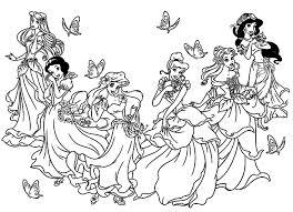 Galerie De Coloriages Gratuits Coloriage Toutes Les Princesses Avec Princesse Disney Coloriage Imprimer L