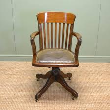 beautiful wooden swivel desk chair vintage style