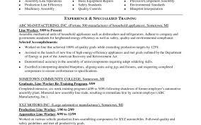 Assembly Line Job Description For Resume Free Sample Resumely Line Worker Inspirational Of Best Assembler 24