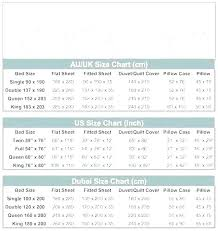Flat Sheet Size Chart Duvet Cover Size Chart Themojamoja Com