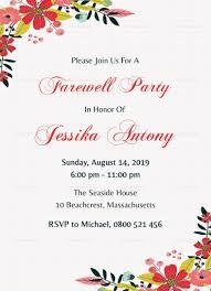 Classic Farewell Party Invitation Template