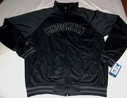 Majestic Jacket Size Chart Details About Brooklyn Nets Tricot Track Jacket Full Zip Majestic Athletics Black Nba New Logo