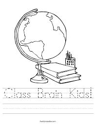 Class Brain Kids Worksheet - Twisty Noodle