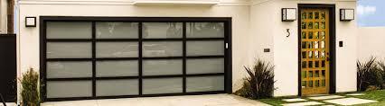 glass garage door modern doors