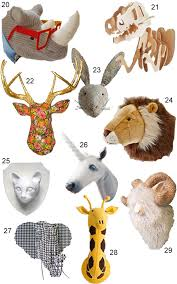 get the look 45 faux animal heads stylecarrot for incredible house stuffed animal head wall decor ideas