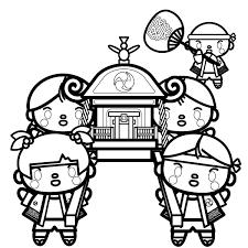 かわいい神輿の無料イラスト商用フリー オイデ43