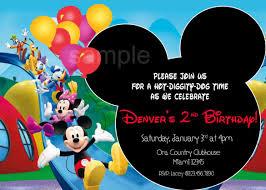 baby mickey mouse invitations birthday mickey mouse clubhouse invitations template birthday on free
