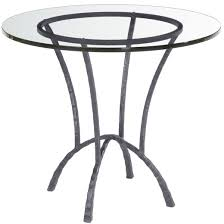 Iron Dining Table Legs Rouded Clear Glass Top Dining Table With Chrome Metal Based Legs