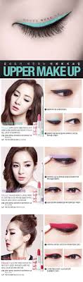 makeup anese eye makeup tutorial 고급스러운레이디기업가 clyladyentrepreneur red minty green and purple eyeliner by clio