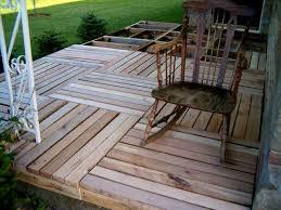 wooden pallets as garden decking