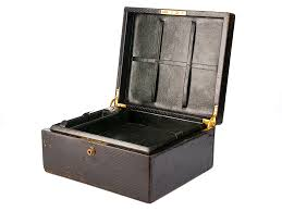 c1860 leather bound travelling writing box by drew co