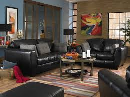Black Leather Living Room Furniture Black Leather Living Room Set