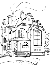 Small Picture Free House Coloring Page